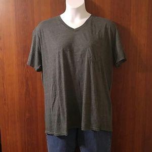 OP gray v-neck short sleeve pocket tee size 2XL